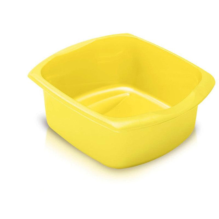 Addis Large 9.5 Litre Rectangle Washing Up Bowl Yellow