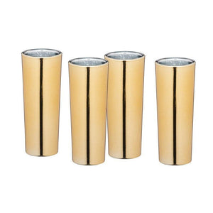 Barcraft Gold 60ml Shot Glasses - Set of 4