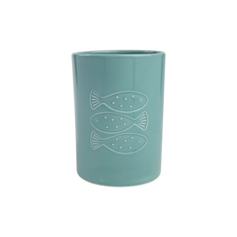 T&G Ocean Ceramic Utensil Pot - Blue