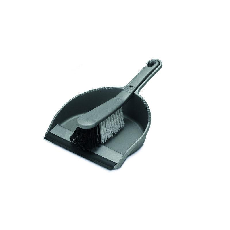 Addis Metallic Dust Pan & Soft Brush