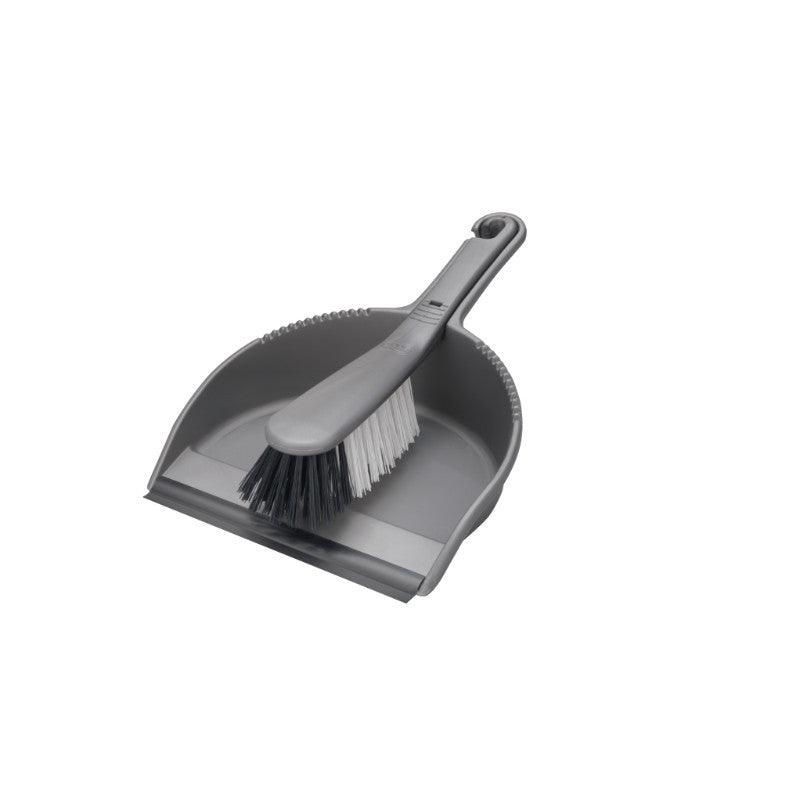 Addis Metallic Dust Pan & Stiff Brush