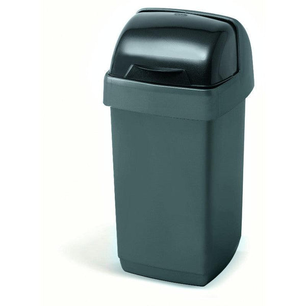 Addis 10 Litre Roll Top Bin - Metallic