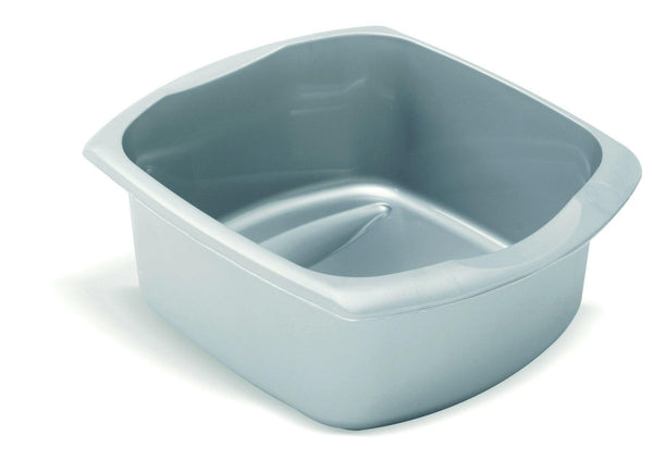 Addis 9.5ltr Rectangle Washing Up Bowl - Metallic