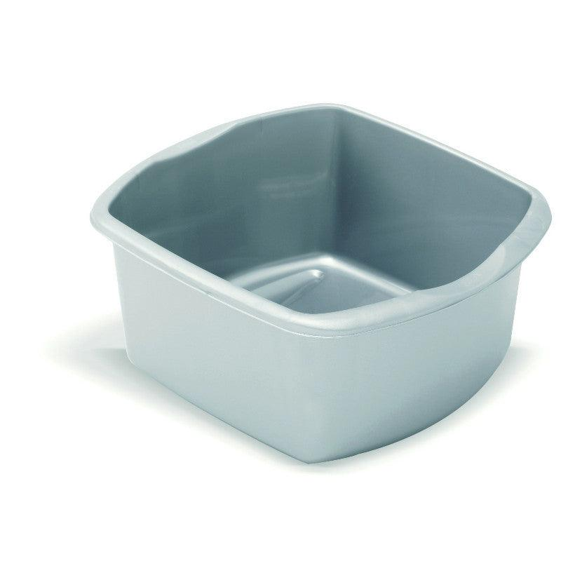 Addis 8 Litre Rectangle Washing Up Bowl Small Metallic