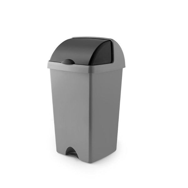 Addis 50 Litre Roll Top Bin - Metallic