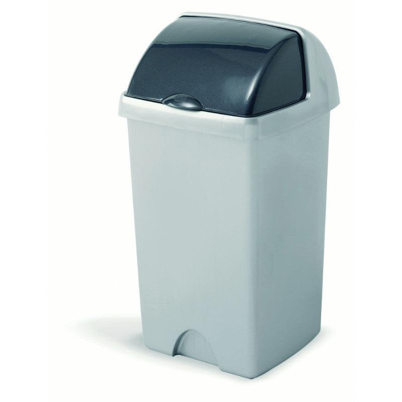 Addis 24 Litre Roll Top Bin Metallic