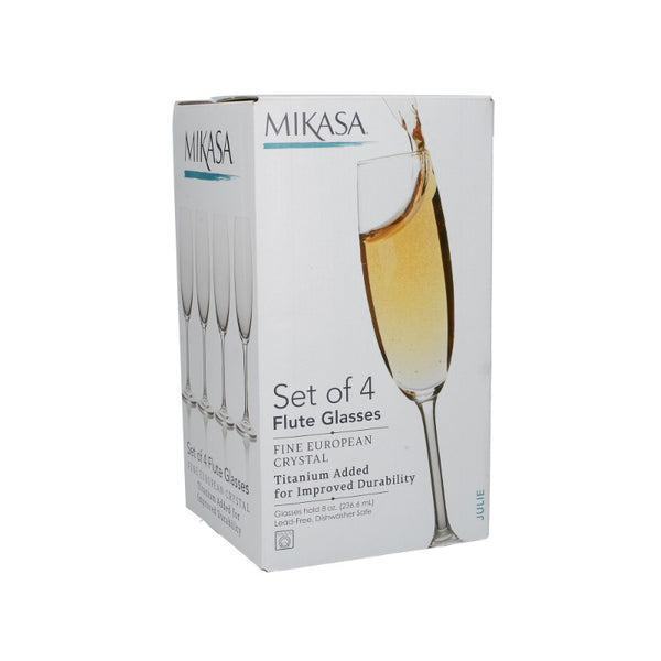 5191918 Mikasa Julie Set of 4 Flute Glasses - Boxed
