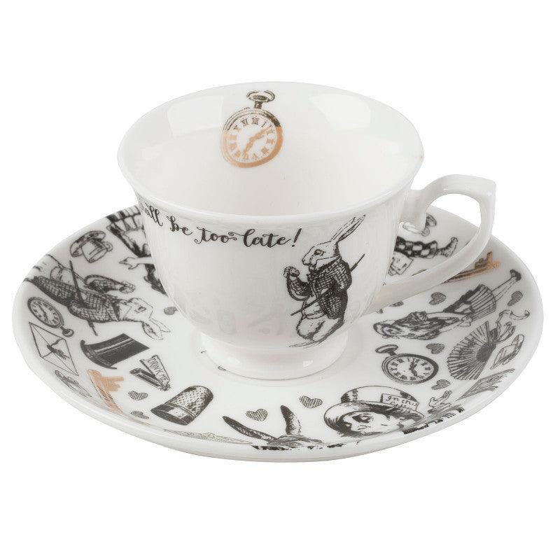 Victoria & Albert Alice in Wonderland Espresso Cup & Saucer Set
