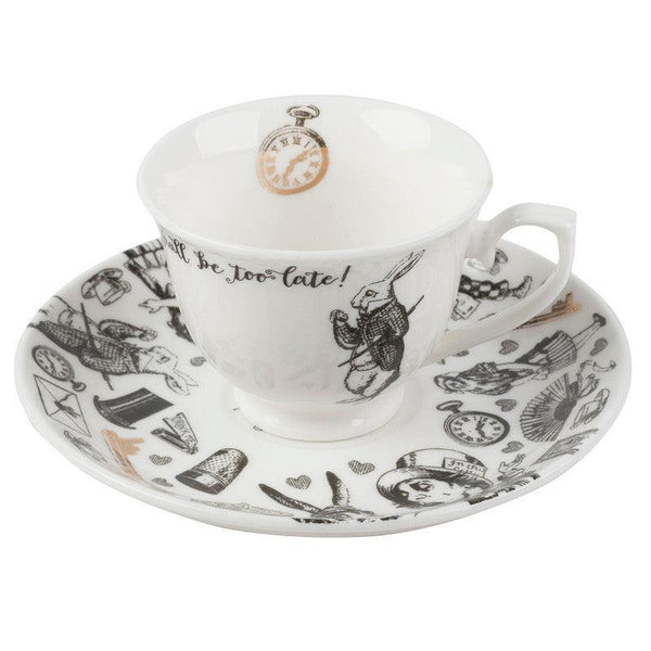 Alice in Wonderland Espresso Cup & Saucer Set