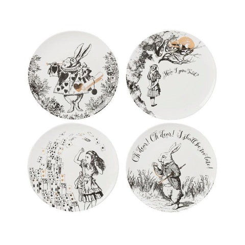 Victoria & Albert Alice in Wonderland 4 Piece Side Plates