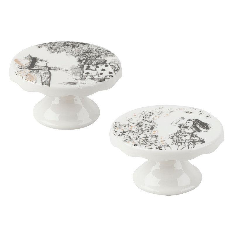 Alice in Wonderland Mini Cake Pedestals - Set of 2