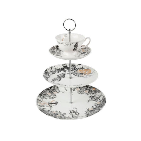 Victoria & Albert Alice in Wonderland 3 Tier Cake Stand