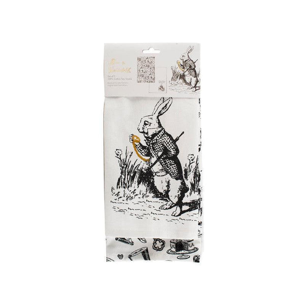 Alice in Wonderland Tea Towels - Set of 2