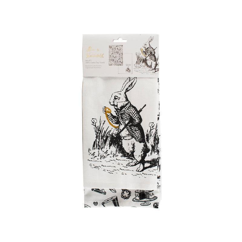 Victoria & Albert Alice in Wonderland 2 Pack Tea Towels