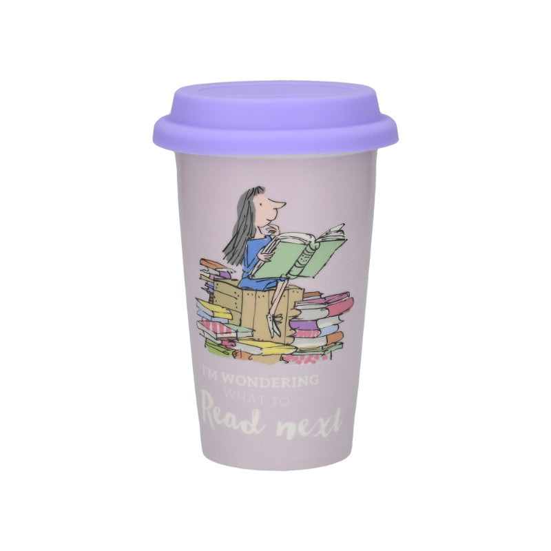 Roald Dahl Matilda Illustrated 350ml Insulated Travel Mug