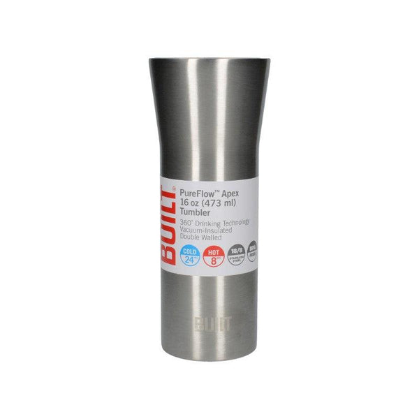 5224051 Built 16oz Pureflow Stainless Steel Tumbler - With Packaging