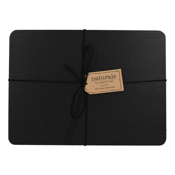 Creative Tops Naturals Black Wood Placemats - Set of 4
