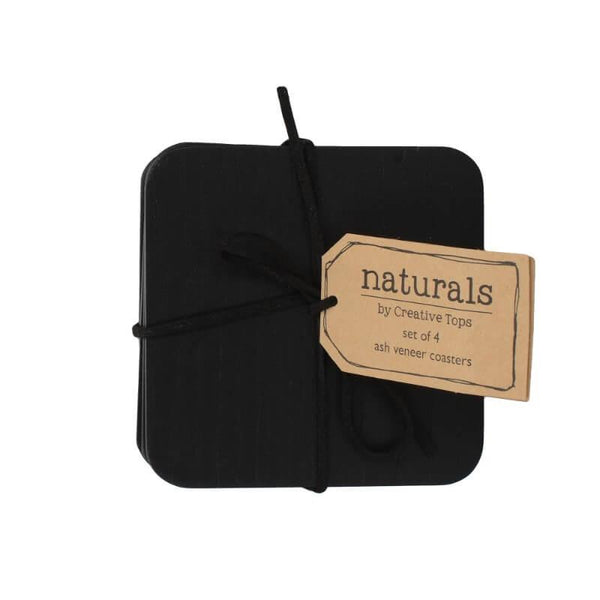 Creative Tops Naturals Black Wood Coasters - Set of 4