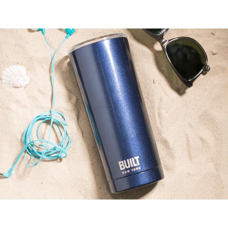 5226848 Built 20oz Double Walled Midnight Blue Tumbler - Lifestyle