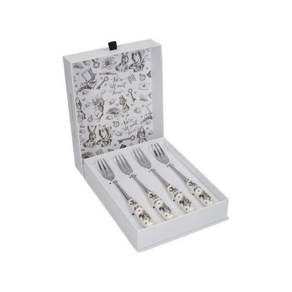 Alice in Wonderland Pastry Forks - Set of 4