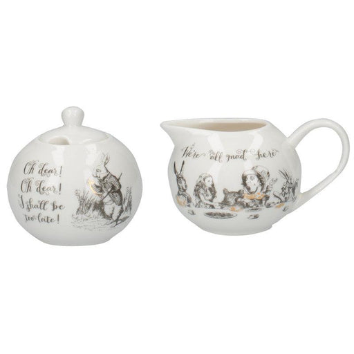 Alice in Wonderland Sugar Bowl & Creamer Set