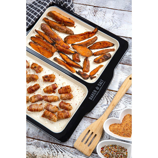 Baker & Salt Dual Enamel Baking Tray - Large