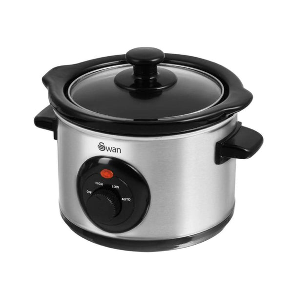 Swan Stainless Steel Slow Cooker - 1.5 Litre
