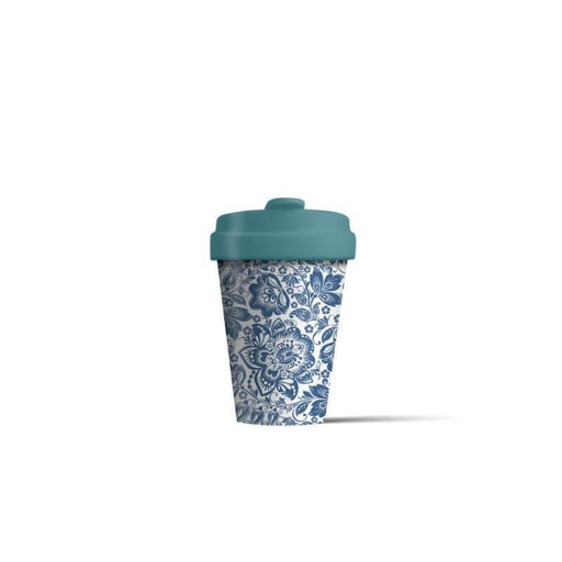 BambooCup 'Blue Flowers' Travel Mug - 400ml