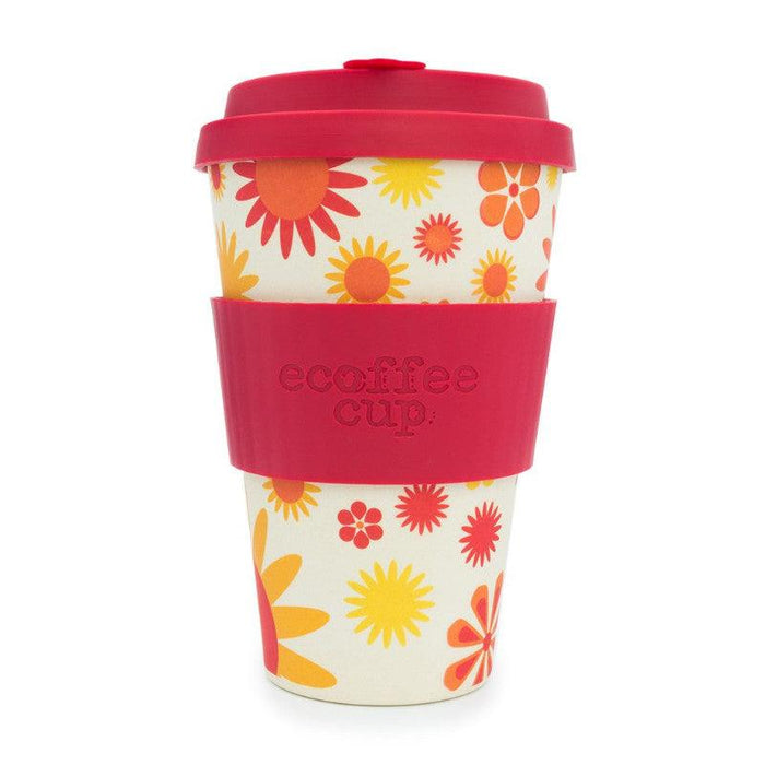 Ecoffee Cup Happy Flower 400ml Bamboo Travel Mug