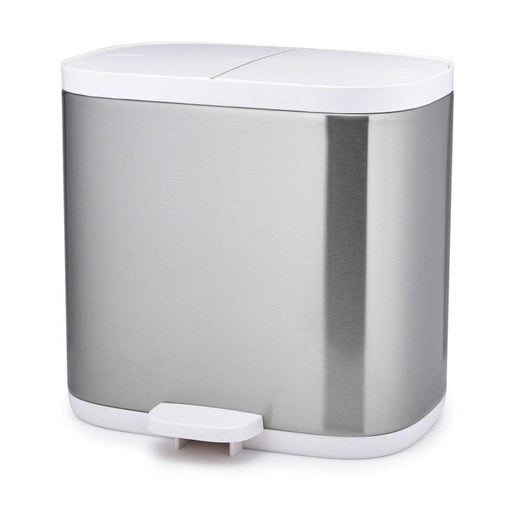 70520 Joseph Joseph Split 6 Brushed Steel Recycling Bin - Main
