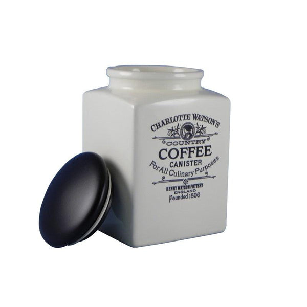 Charlotte Watson Large Coffee Canister - Cream