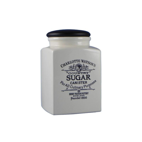 Charlotte Watson Large Sugar Canister - Cream