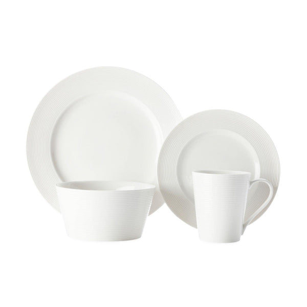 Casa Domani Evolve White Dinner Set - 16 Piece