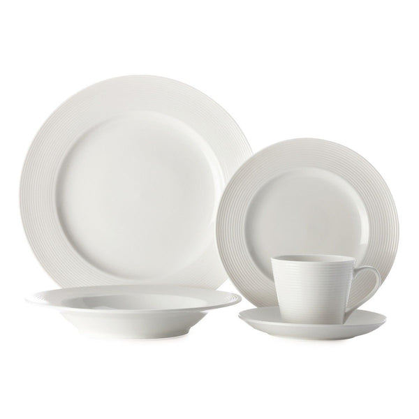 Casa Domani Evolve White Dinner Set - 20 Piece