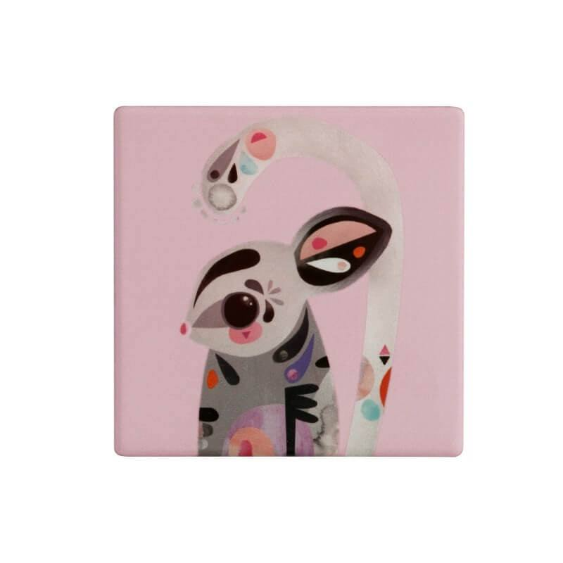 Maxwell & Williams Pete Cromer Square Ceramic Coaster - Sugar Glider