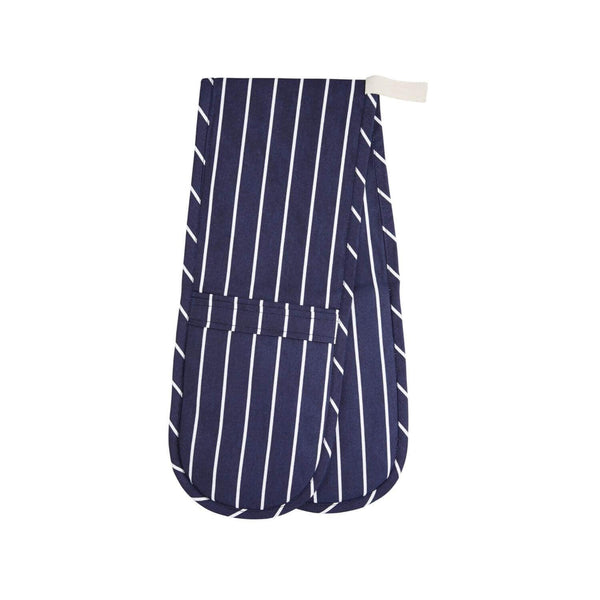 KitchenCraft Double Oven Glove - Blue Butchers Stripe