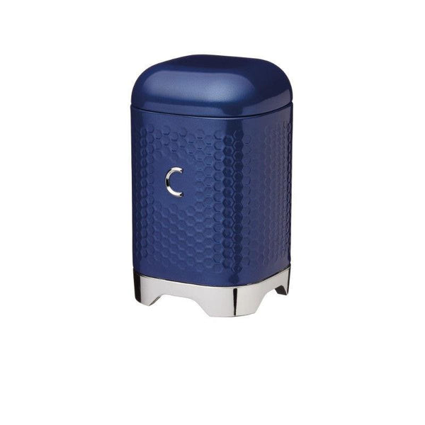 LOVCOFFEEBLU Lovello Textured Navy Blue Coffee Canister - Main