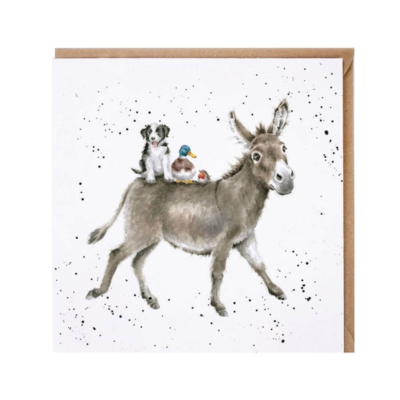 Wrendale Designs by Hannah Dale Card - The Donkey Ride