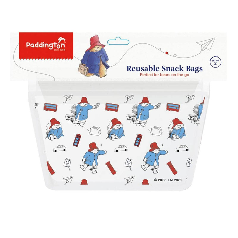 Paddington Bear Reusable Zip Snack Bags - Set of 2