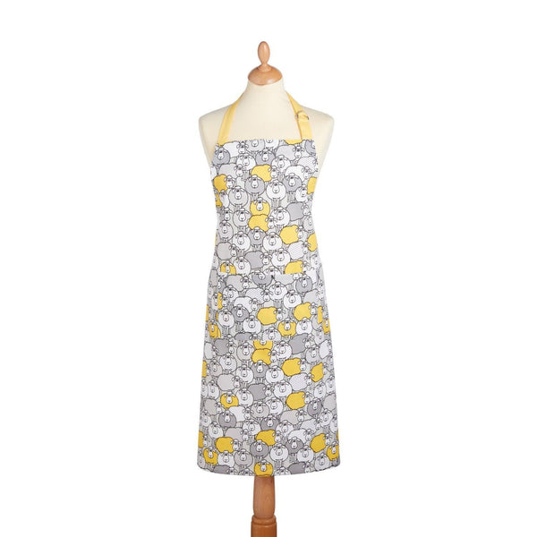KitchenCraft Cotton Apron - Yellow Sheep