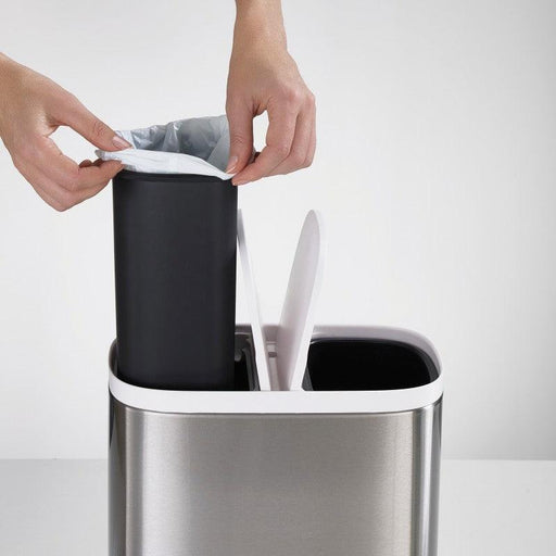70520 Joseph Joseph Split 6 Brushed Steel Recycling Bin - Liner Replacement Lifestyle