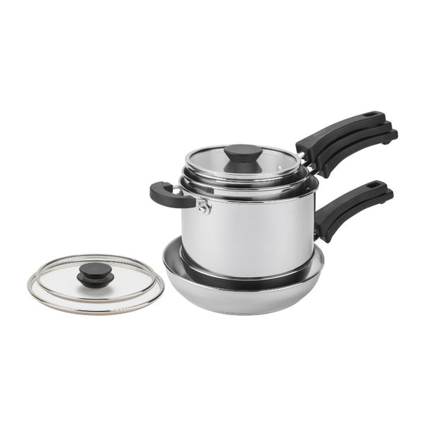 Prestige Kitchen Hacks Nesting 5-Piece Pan Set