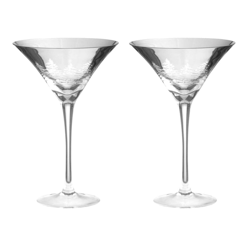 Artland Alpine Martini Glasses Silver - Set of 2