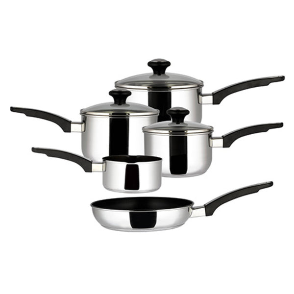 Prestige Everyday 5 Piece Stainless Steel Pan Set