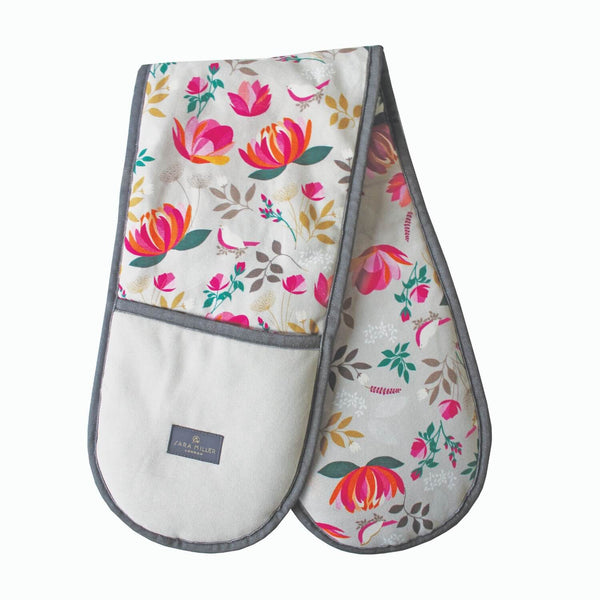 Sara Miller London Double Oven Glove - Peony