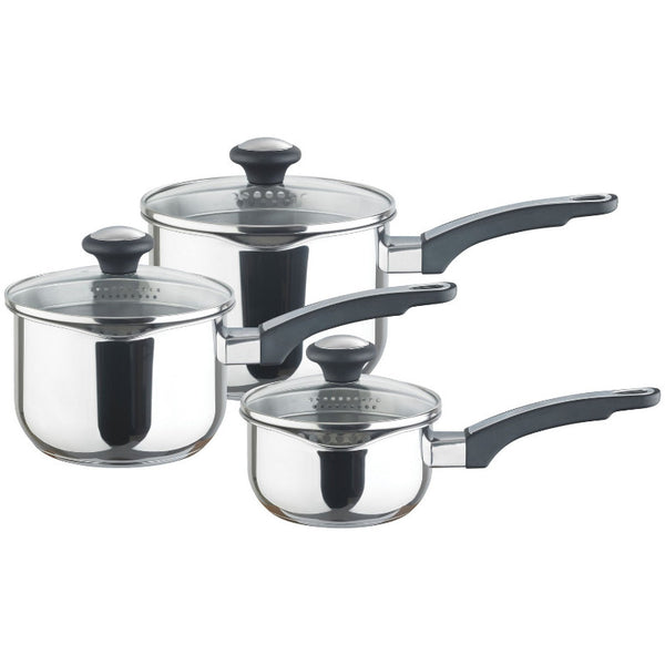 Prestige Everyday 3 Piece Stainless Steel Saucepan Set