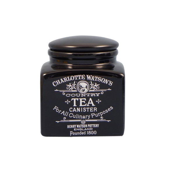 Charlotte Watson Small Tea Canister - Black