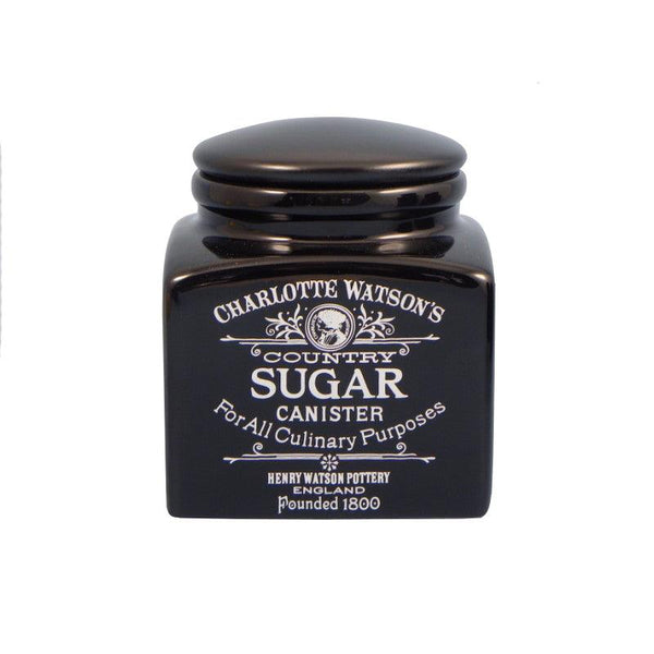 Charlotte Watson Small Sugar Canister - Black
