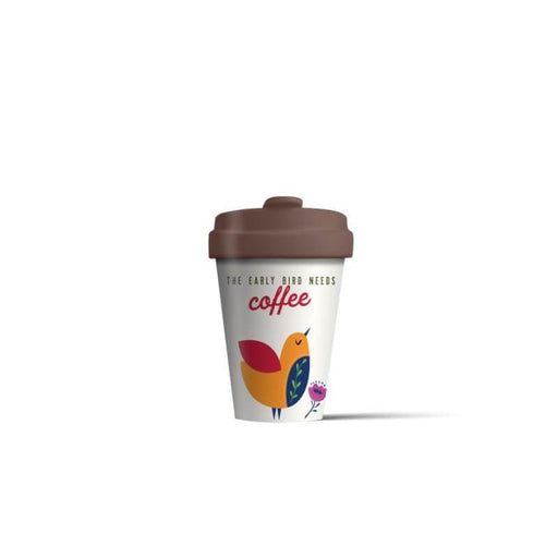 BambooCup 'Early Bird Needs Coffee' Travel Mug - 400ml