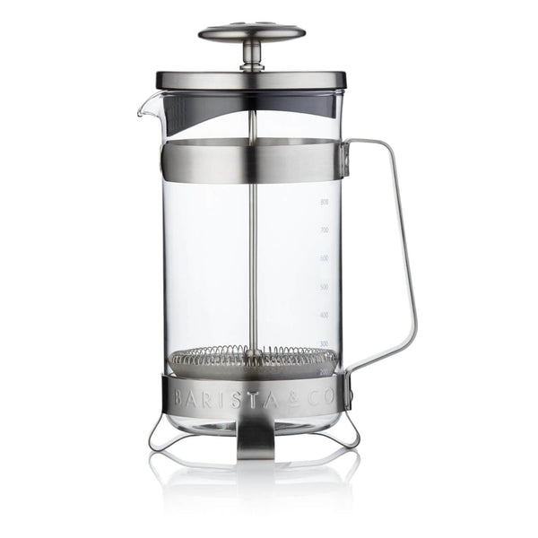 Barista & Co French Coffee Press 8 Cup - Electric Steel